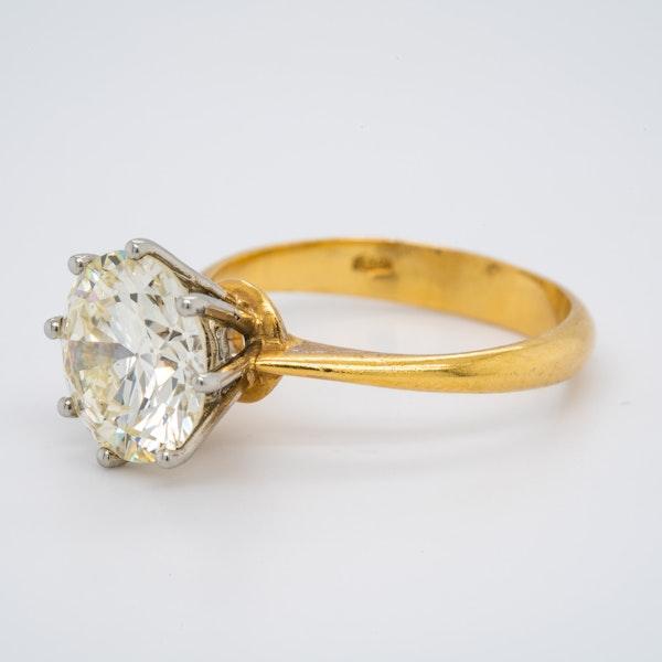 18K yellow gold 3.44ct Diamond Engagement Ring - image 3