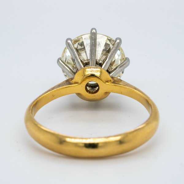 18K yellow gold 3.44ct Diamond Engagement Ring - image 4