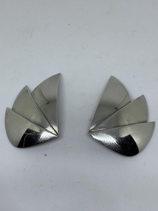 A pair of silver Georg Jensen earrings - image 1
