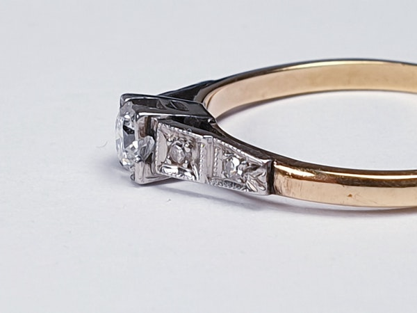 Antique Solitaire Diamond Ring  DBGEMS - image 3