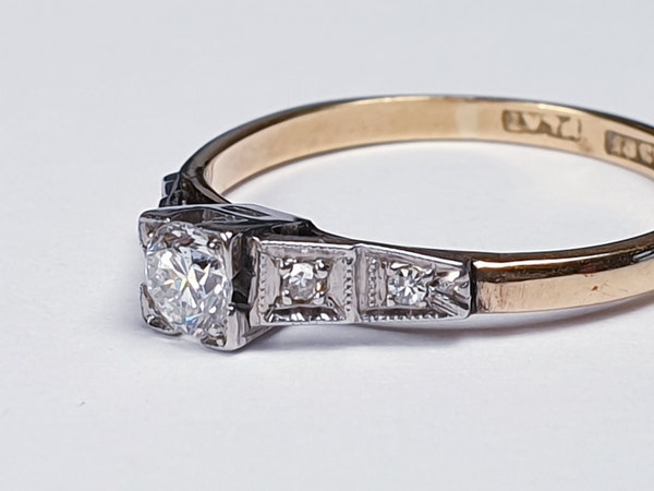 Antique Solitaire Diamond Ring  DBGEMS - image 4