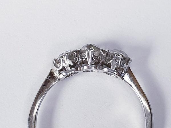 Three stone diamond ring set in platinum  DBGEMS - image 1