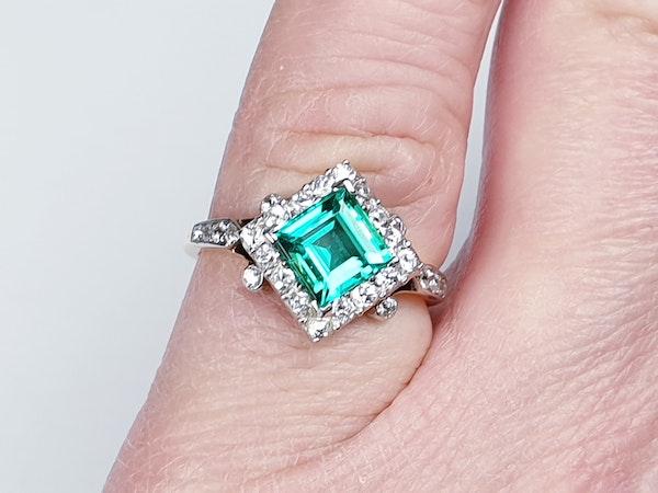 Terrific Edwardian Emerald and Diamond Ring  DBGEMS - image 4
