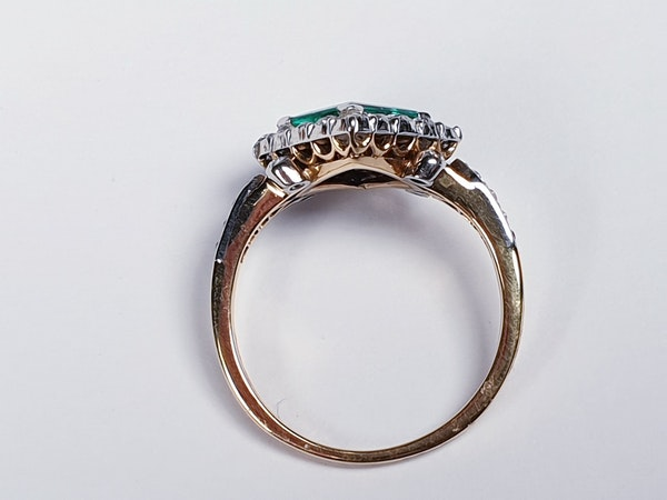 Terrific Edwardian Emerald and Diamond Ring  DBGEMS - image 3