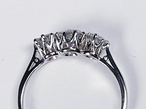 Art deco three stone diamond engagement ring 4730   DBGEMS - image 2