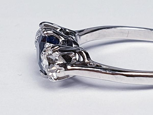 Sapphire and diamond engagement ring 4318   DBGEMS - image 5