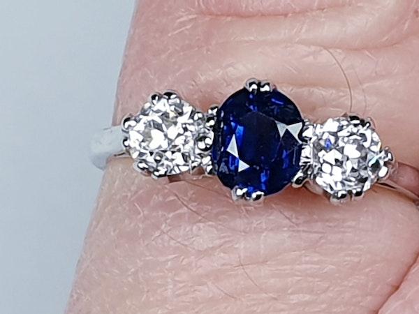 Sapphire and diamond engagement ring 4318   DBGEMS - image 1
