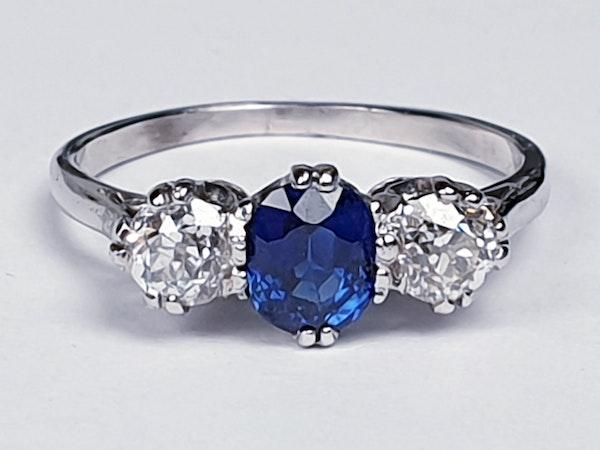 Sapphire and diamond engagement ring 4318   DBGEMS - image 3