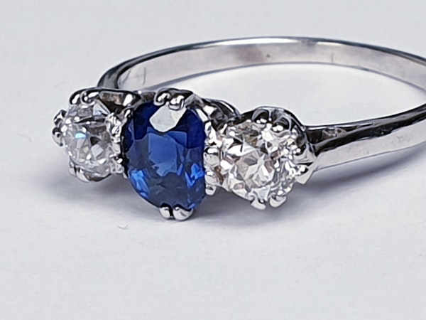 Sapphire and diamond engagement ring 4318   DBGEMS - image 2