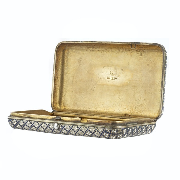 Russian Silver Gilt and Enamel Cigar Case, Khlebnikov, Moscow 1874 - image 3