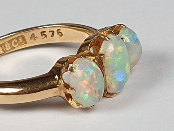Antique opal three stone ring  DBGEMS - image 3