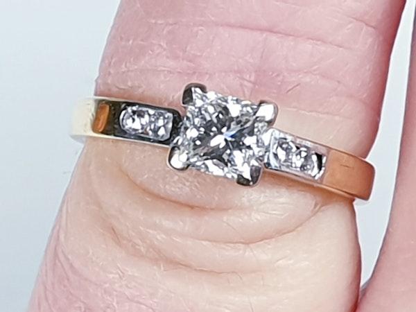 Princess cut diamond engagement ring  DBGEMS - image 4