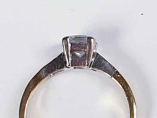 Princess cut diamond engagement ring  DBGEMS - image 2