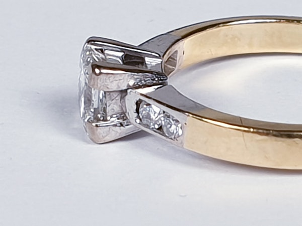 Princess cut diamond engagement ring  DBGEMS - image 3