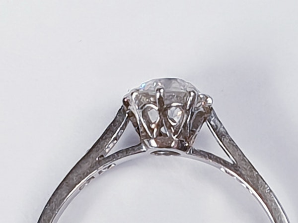 1ct old cut diamond engagement ring 4203   DBGEMS - image 5