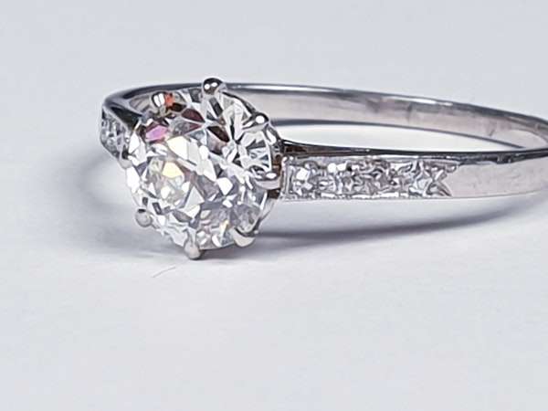 1ct old cut diamond engagement ring 4203   DBGEMS - image 3