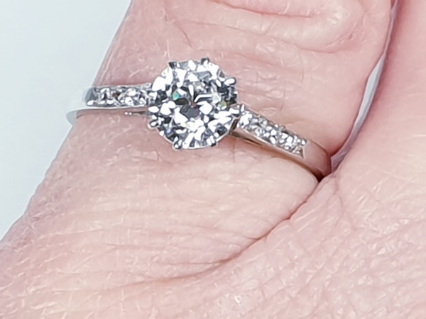 1ct old cut diamond engagement ring 4203   DBGEMS - image 4