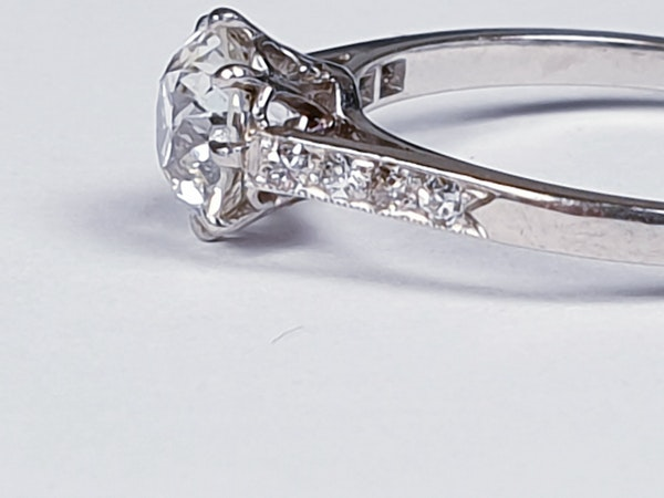 1ct old cut diamond engagement ring 4203   DBGEMS - image 2