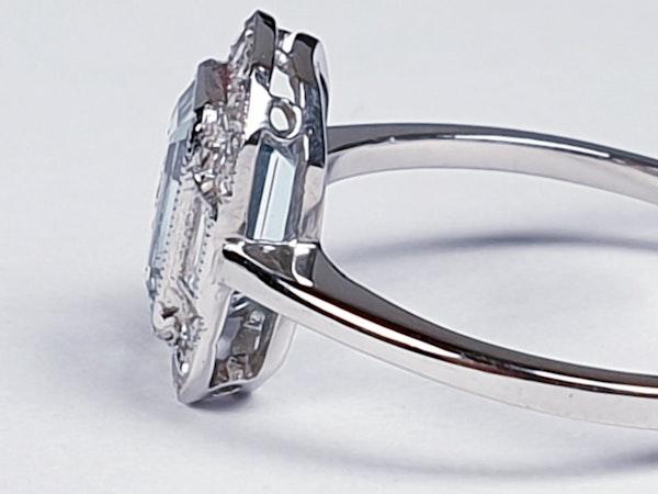 Aquamarine and diamond dress ring  DBGEMS - image 4