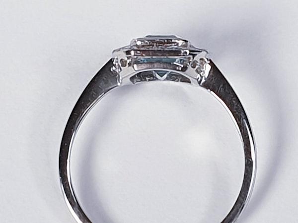 Aquamarine and diamond dress ring  DBGEMS - image 2