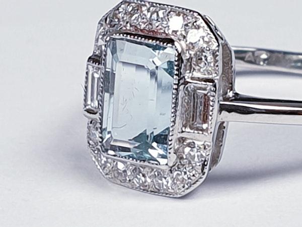 Aquamarine and diamond dress ring  DBGEMS - image 3