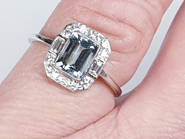 Aquamarine and diamond dress ring  DBGEMS - image 1