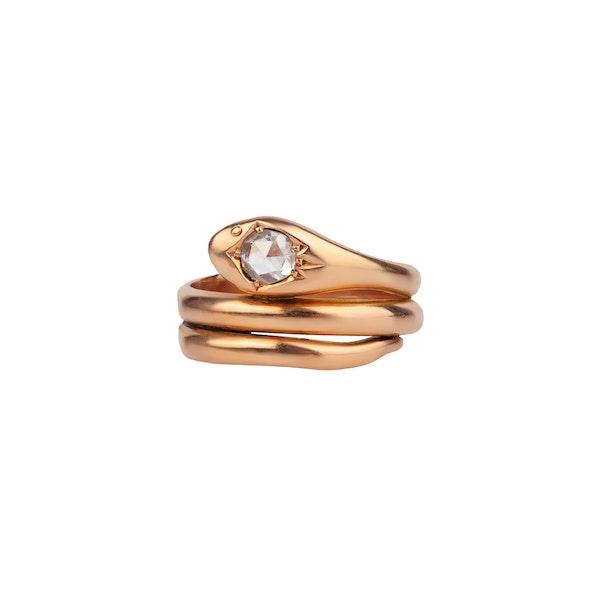 Diamond snake ring - image 1