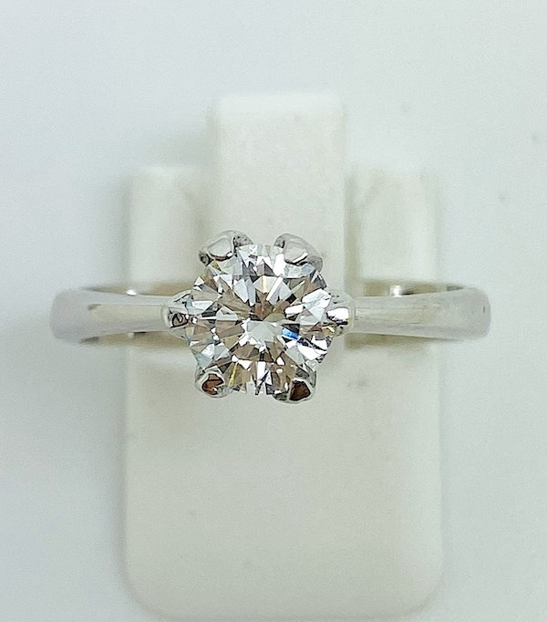 18K white gold, 0.75ct Diamond Solitaire Engagement Ring - image 6