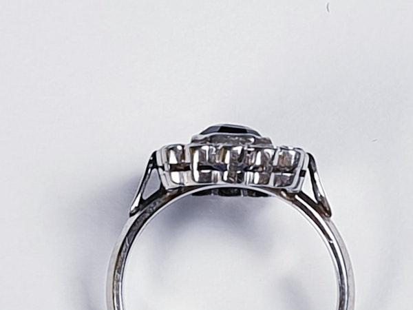 Art Deco Sapphire and Diamond Ring 3553   DBGEMS - image 4