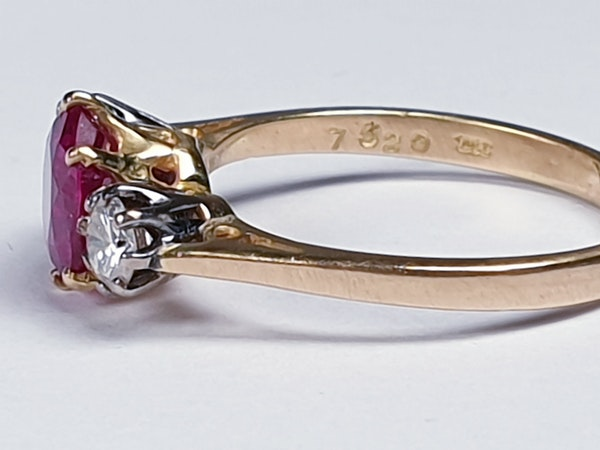 Ruby and diamond engagement ring  DBGEMS - image 4