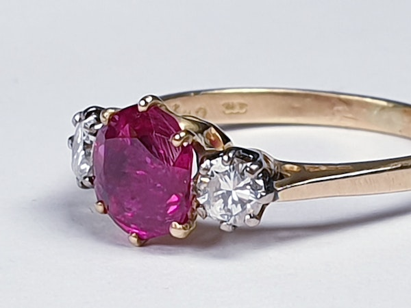 Ruby and diamond engagement ring  DBGEMS - image 3