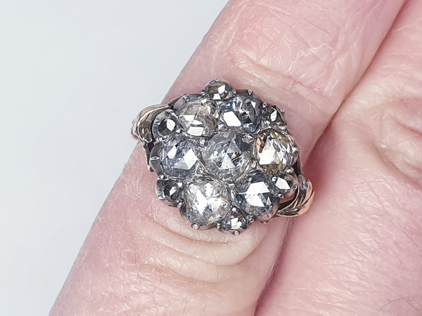 18th Century Rose Diamond Button Cluster Ring  DBGEMS - image 3
