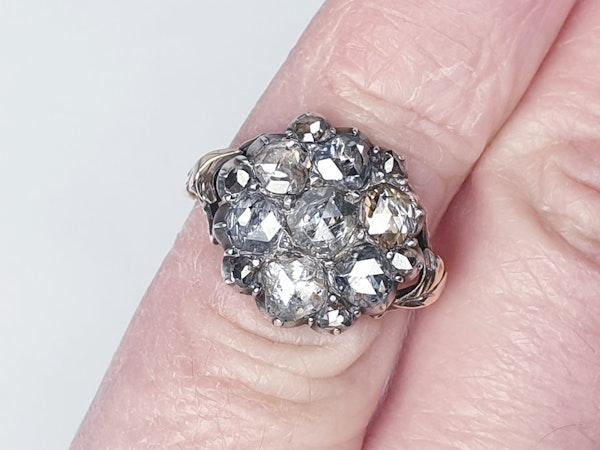 18th Century Rose Diamond Button Cluster Ring  DBGEMS - image 3