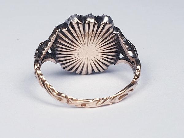18th Century Rose Diamond Button Cluster Ring  DBGEMS - image 5