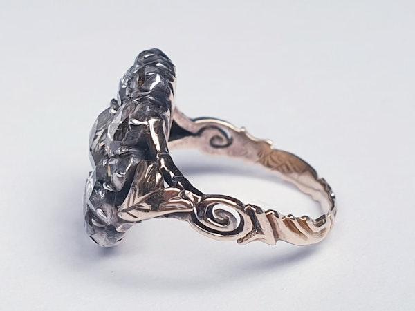 18th Century Rose Diamond Button Cluster Ring  DBGEMS - image 6