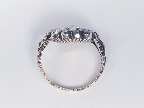18th Century Rose Diamond Button Cluster Ring  DBGEMS - image 4