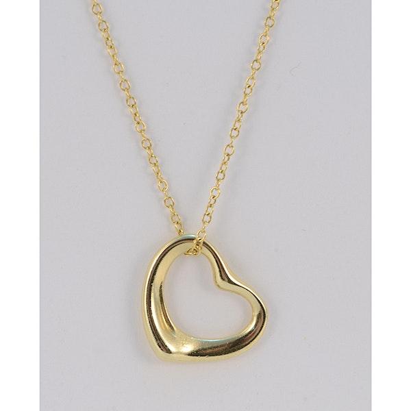 1990's, 18ct Yellow Gold Heart shape Pendant by Tiffany & Co, SHAPIRO & Co since1979 - image 1
