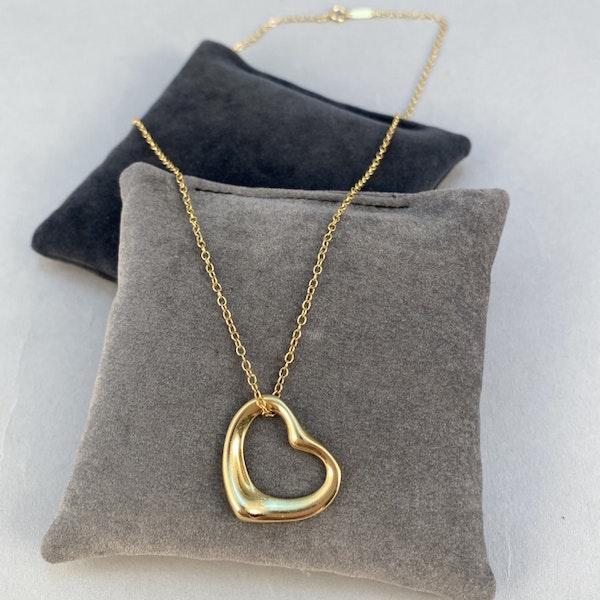 1990's, 18ct Yellow Gold Heart shape Pendant by Tiffany & Co, SHAPIRO & Co since1979 - image 3