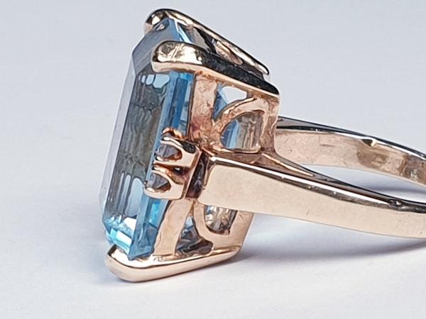 Blue topaz and diamond dress ring  DBGEMS - image 5