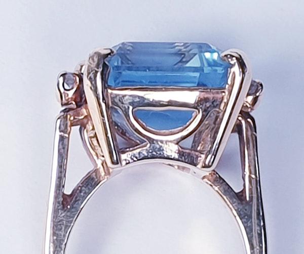 Blue topaz and diamond dress ring  DBGEMS - image 3