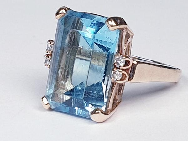 Blue topaz and diamond dress ring  DBGEMS - image 4