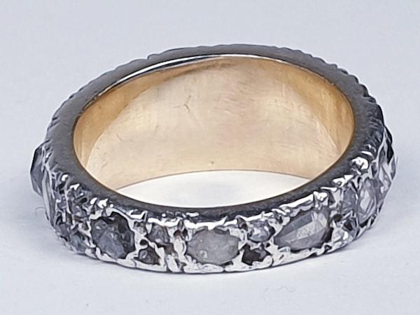 Rare Georgian old mine cut diamond and rose cut diamond ring 4615  DBGEMS - image 2