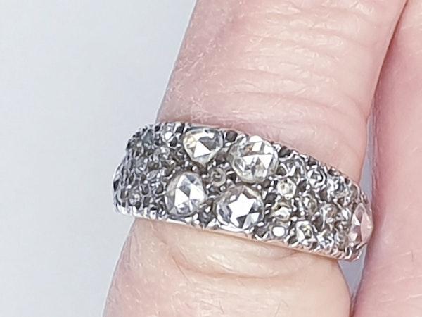 Rare Georgian old mine cut diamond and rose cut diamond ring 4615  DBGEMS - image 4