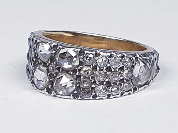 Rare Georgian old mine cut diamond and rose cut diamond ring 4615  DBGEMS - image 6