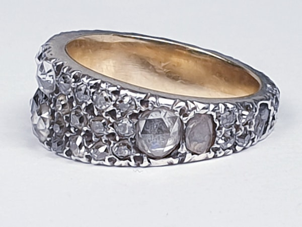 Rare Georgian old mine cut diamond and rose cut diamond ring 4615  DBGEMS - image 3