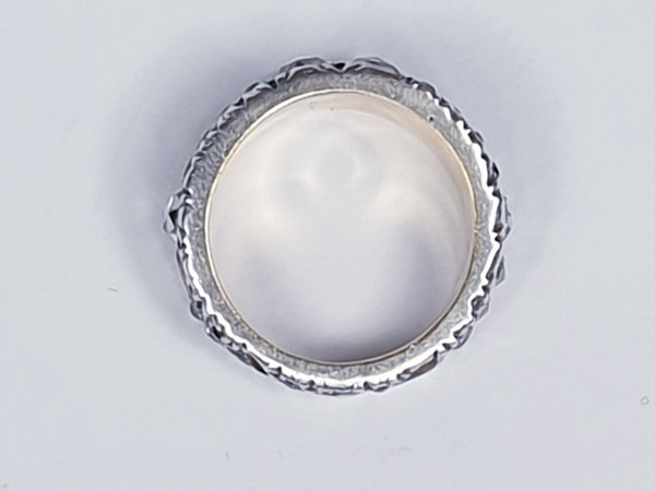 Rare Georgian old mine cut diamond and rose cut diamond ring 4615  DBGEMS - image 5