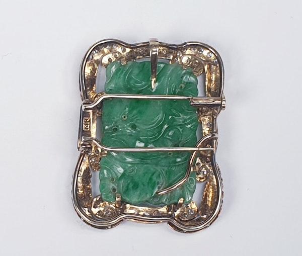 Jade and Diamond Pendant  DBGEMS - image 3