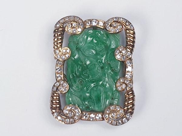 Jade and Diamond Pendant  DBGEMS - image 1