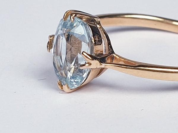 Single Stone Aquamarine Ring  DBGEMS - image 4