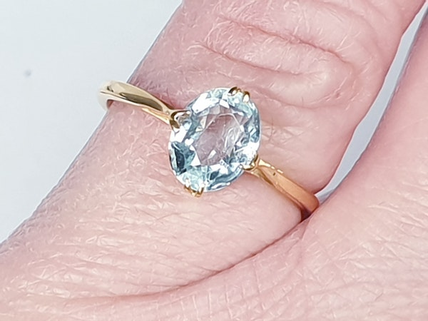 Single Stone Aquamarine Ring  DBGEMS - image 3